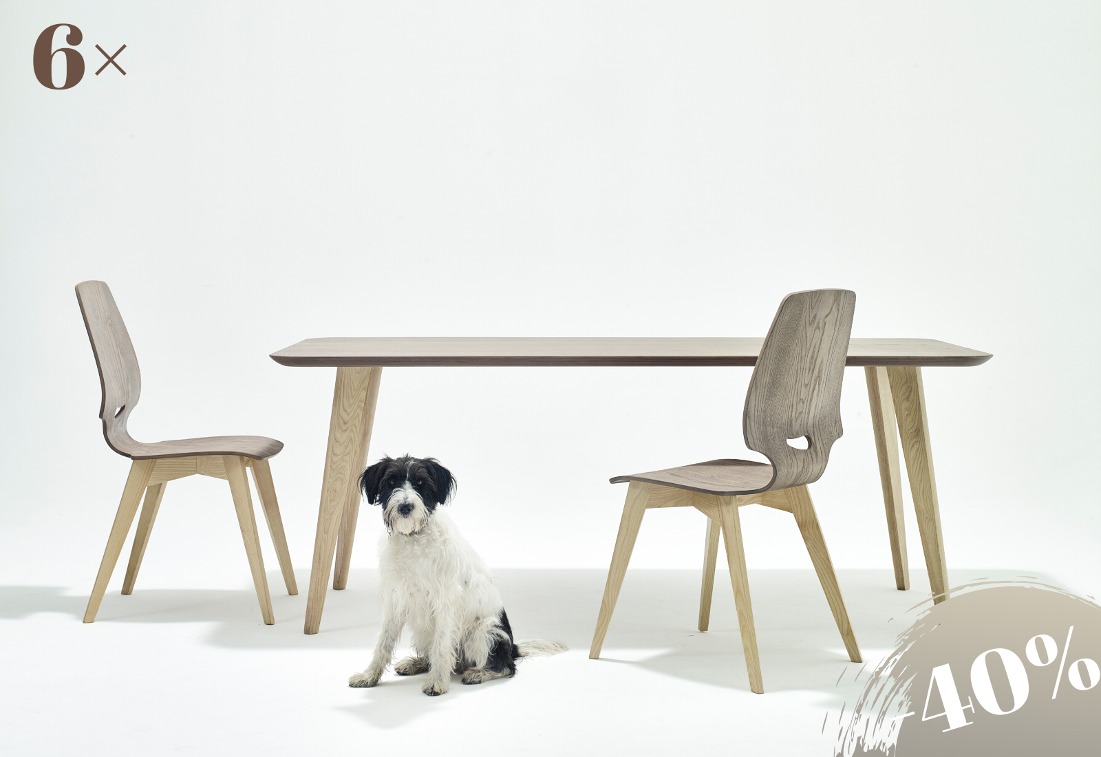 6×FINN chair-table ash gray