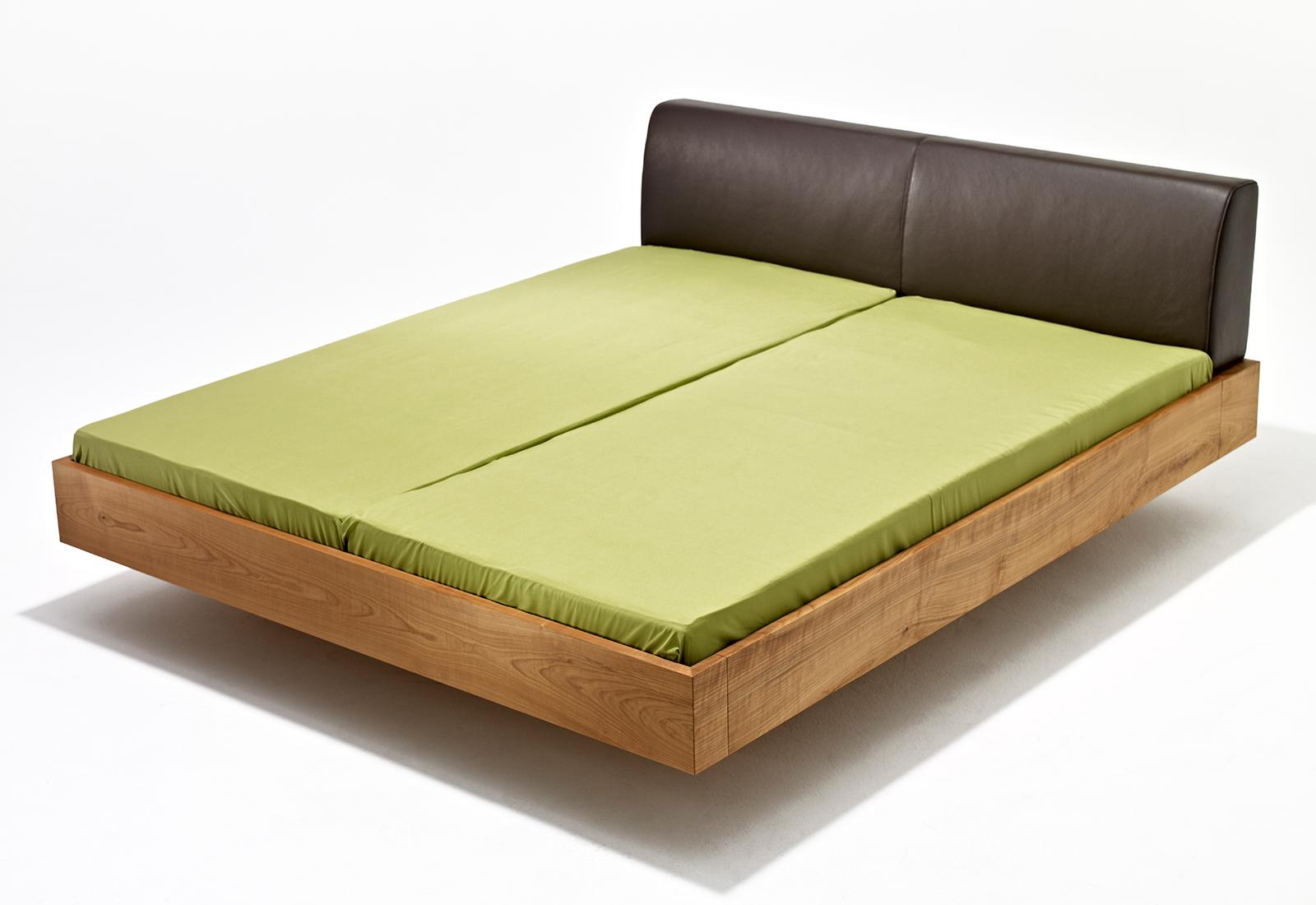 Schwebebett Mamma Air Holzbett Mit Gepolsterte Kopfteil In Leder Sixay Furniture Designermöbel Aus Vollholz