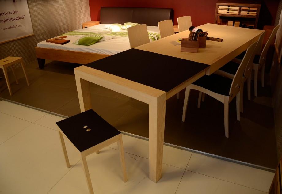 MESA Tisch Prototyp - der aller erste MESA Ausziehtisch - BioMöbel Genske, Köln 2012 Januar