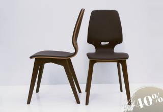 2× FINN kárpitos szék fekete dió - bőr terra